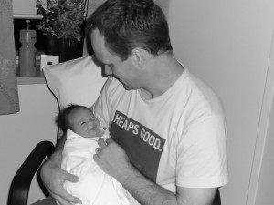 Baby Ashley with proud Father, Rob